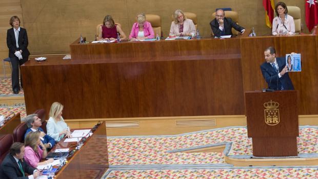 Ignacio Aguado, durante su turno en el Debate sobre el Estado de la Región