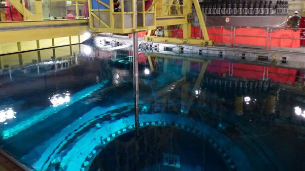 Un momento de la anterior recarga de la central nuclear de Cofrentes
