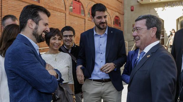 Luis Tudanca y César Rico, en los actos del Día de la Provincia de Burgos