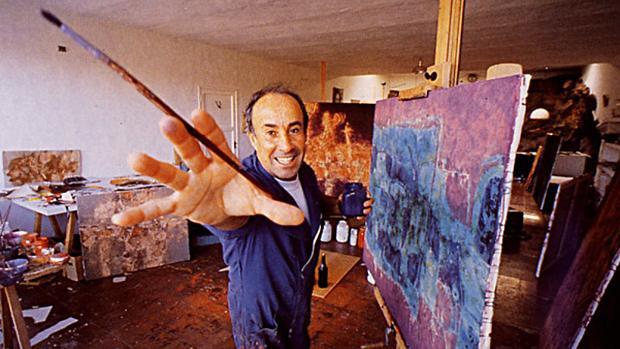 César Manrique en su casa de Lanzarote