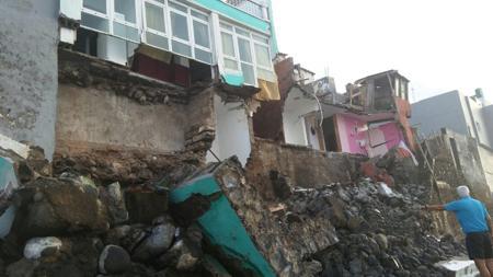 Zona de derrumbe en San Andrés