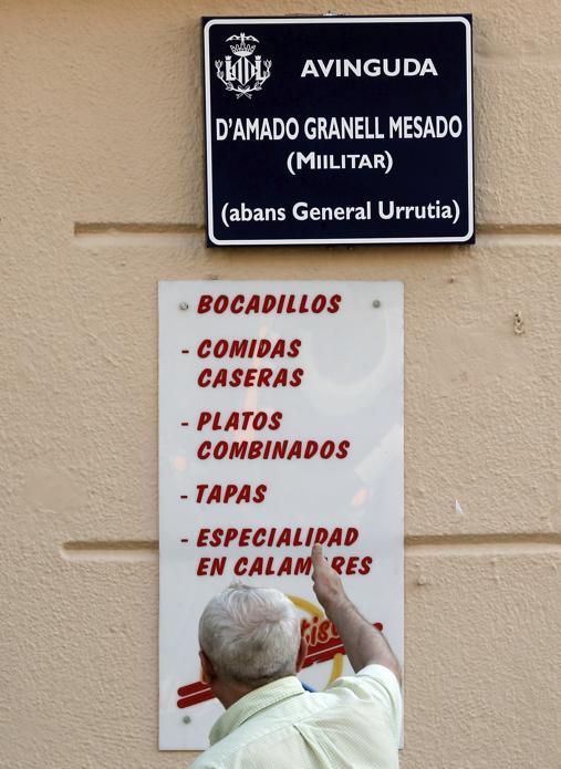Imagen de la nueva señalización en Generalitat Urrutia