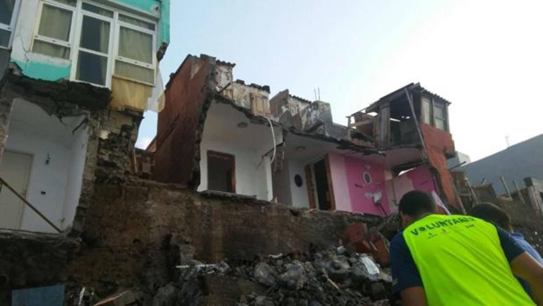 Desprendimiento de casas en San Andrés, Arucas