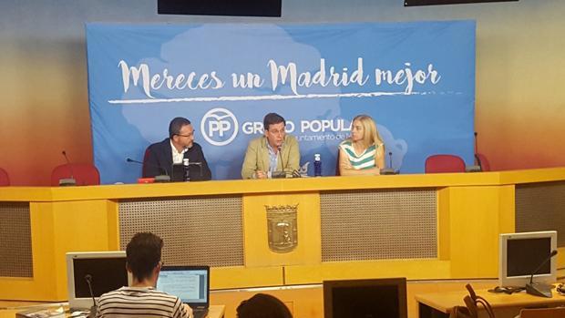 El portavoz del Grupo Municipal del PP, José Luis Martínez-Almeida