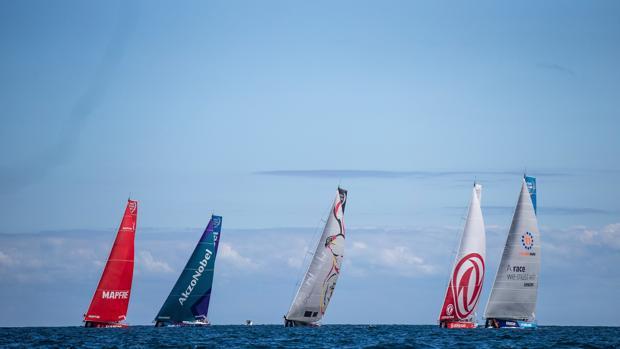 Barcos de los distintos equipos durante la Etapa Cero celebrada en el mes de agosto