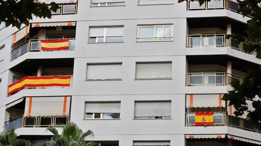 Imagen tomada este martes en un edificio del centro de Valencia