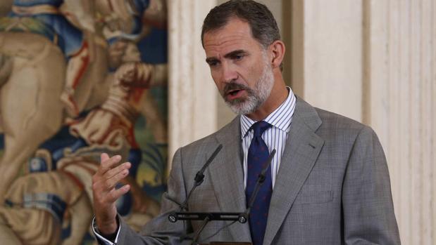 Don Felipe, en el Palacio de la Zarzuela
