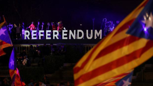 Imagen de un evento a favor del referéndum ilegal previsto para el 1-O