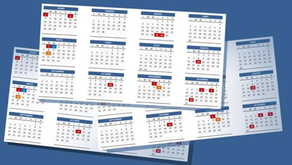 Calendario laboral 2018 en alicante for Festivos alicante 2017
