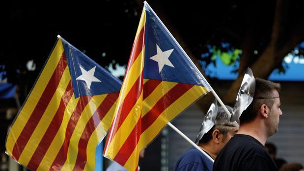Imagen de archivo de una manifestación separatista celebrada en Valencia