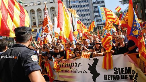 Resultat d'imatges de procesión civica valencia real señera