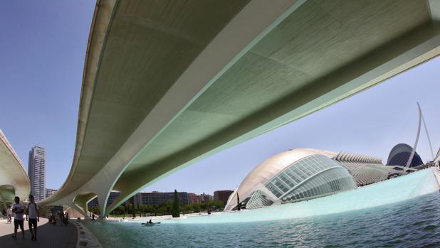 Vista panorámica de la Ciudad de las Artes y las Ciencias de Valencia