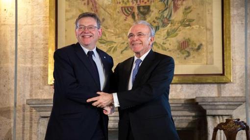 Imagen de Puig y Fainé tomada el pasado mes de marzo en el Palau de la Generalitat