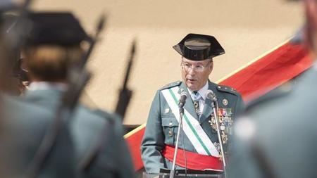 En Tenerife, el general jefe de la Guardia Civil en Canarias, Juan Sánchez Medina