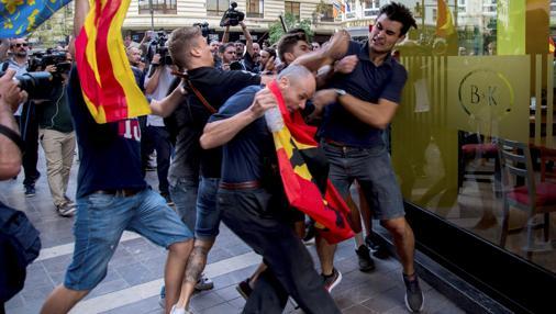 Imagen de una de las agresiones del pasado lunes