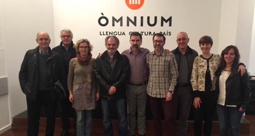 Imagen de los integrantes de la Federació Llull tomada en febrero de 2016
