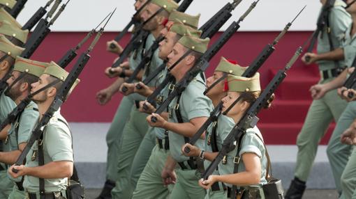 Legionarios durante el desfile del pasado año