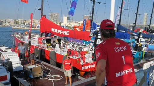 Imagen de la zona del Puerto de Alicante, salida de la Volvo Ocean Race