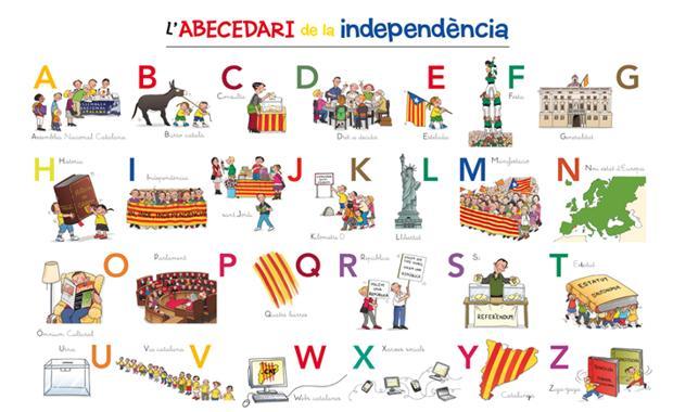 Póster que incluye el libro «Abecedari de la independència», de la editorial La Galera