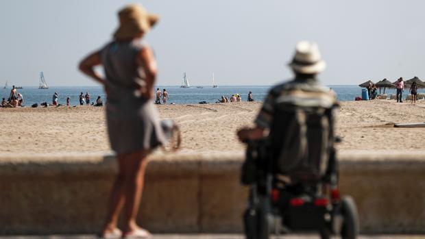 Imagen de la Playa de las Arenas de Valencia esta semana