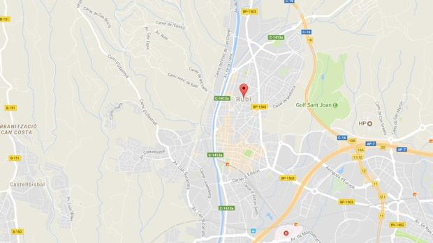 Ubicación de Rubí en Google Maps