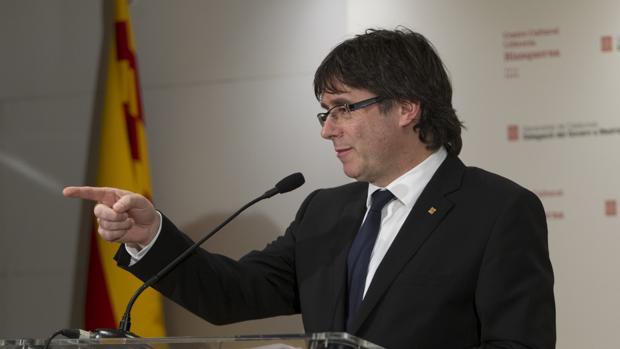 Carles Puigdemont, en rueda de prensa
