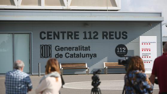 Sede central del servicio de emergencias 112 de la Generalitat, en Reus (Tarragona), donde la Guardia Civil ha irrumpido hoy en búsqueda de pruebas