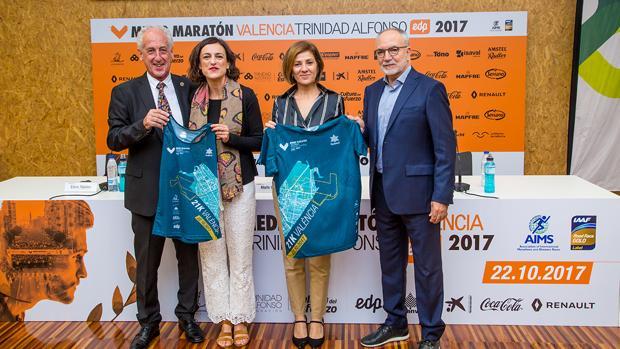 Imatge de la prersentació de la Mitja Marató València