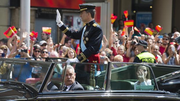 Don Felipe quiso que José Corona le acompañara en el coche el día de su proclamación como Rey
