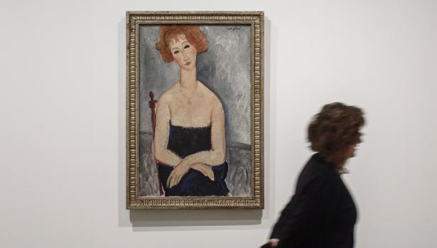 'La pelirroja con el colgante' de Modigliani