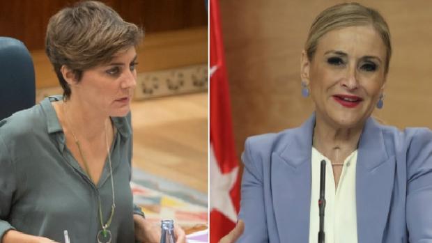 Lorena Ruiz-Huerta (izq) y Cristina Cifuentes