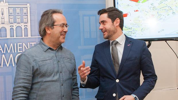 El alcalde Francisco Guarido y el socialista Antidio Fagúndez, en una imagen de archivo