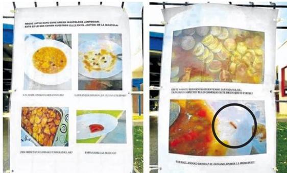 Imagen de los alimentos que se sirven en el colegio vizcaíno