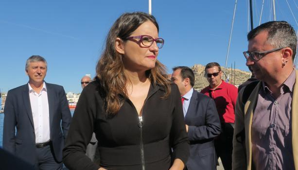 Mónica Oltra, este viernes en Alicante