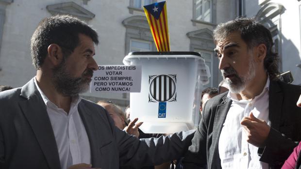 Declaración en la Audiencia Nacional de Jordi Sánchez, presidente de la Asamblea Nacional Catalana (ANC), y de Jordi Cuixart, presidente de Omnium Cultural, el pasado 6 de octubre