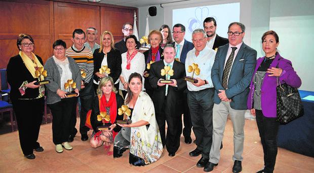 Los galardonados en el acto celebrado ayer en Toledo