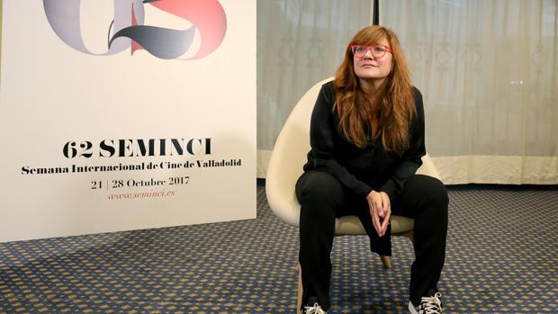 Isabel Coixet, ayer en la Semana Internacional de Cine (Seminci) de Valladolid