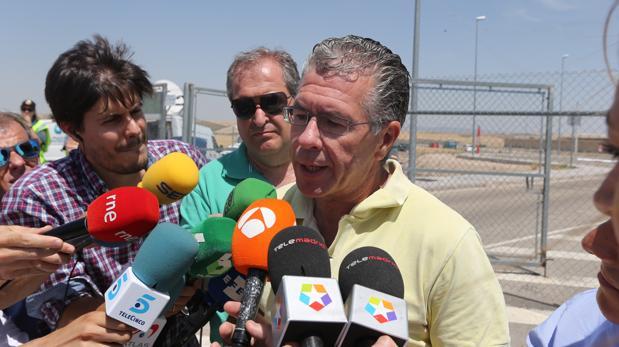 Francisco Granados, a su salida de la prisión de Estremera