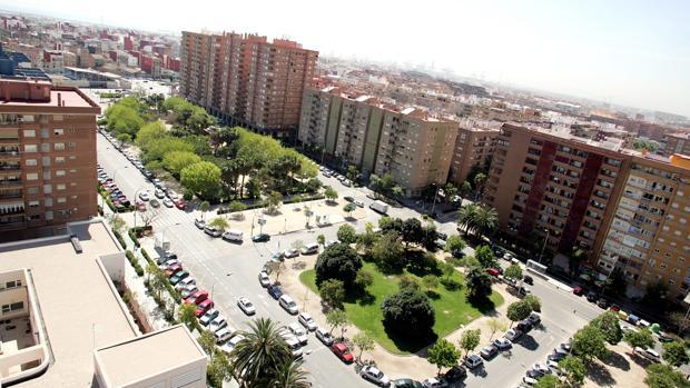 Imagen de archivo de la avenida Blasco Ibáñez de Valencia