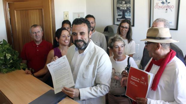 José Luis Blanco durante la presentación de su candidatura a la Secretaria del PSOE