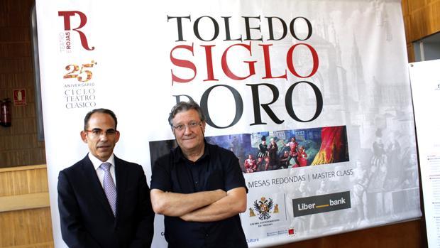 José María Cortés y Francisco Plaza, ayer en la presentación del nuevo ciclo literario