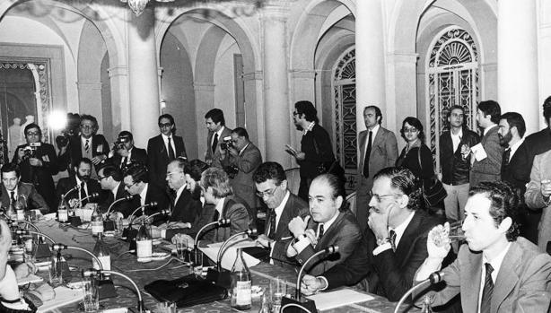 Reunión de los Pactos de La Moncloa