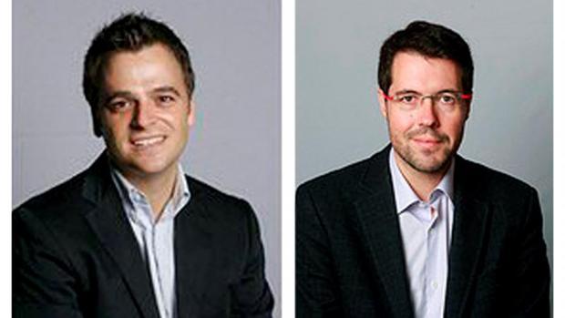 Jordi Cuminal (i) y Albert Batalla (d) habían anunciado su dimisión esta mañana