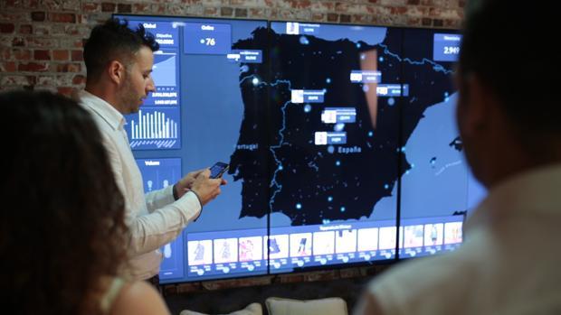 Imagen de una demostración del software