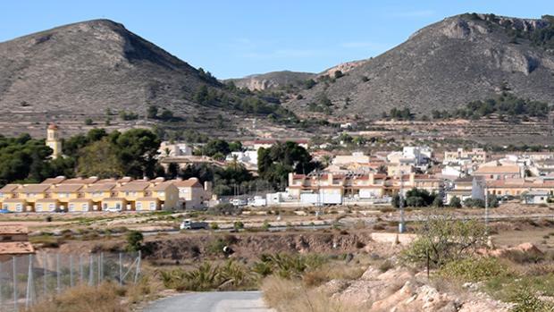 Vista panorámica del municipio alicantino de La Romana