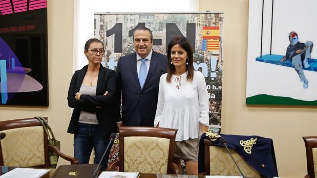 Imagen de Rubio, Sentandreu y Seguí tomada este viernes en Valencia