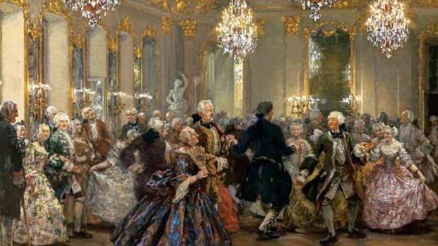 La danza de los salvajes isleños en un baile de corte en el castillo de Reinsberg