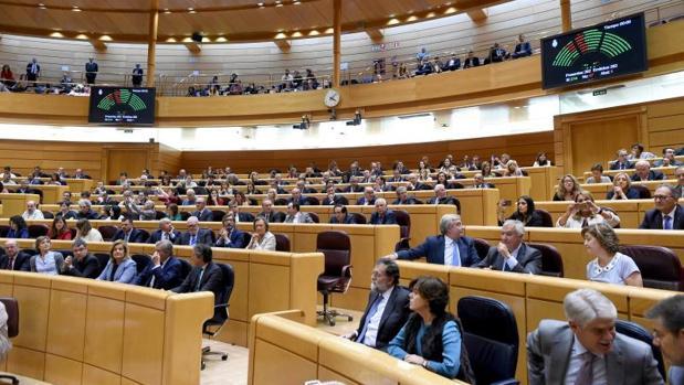 Panorámica del Senado durante la sesión de ayer