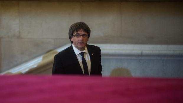 Puigdemont, el pasado viernes en el Parlament