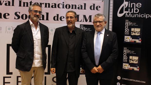 Javier Fesser, a la izquierda, junto con Tito Cañada y Ángel Felpeto
